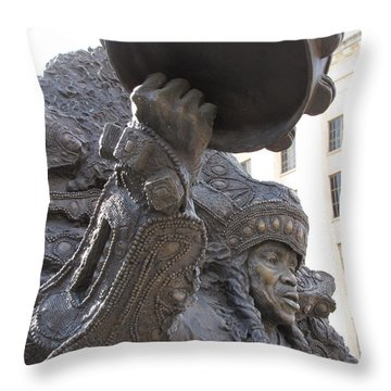 Throw Pillow featuring the photograph Mardi Gras Indian by Beth Vincent