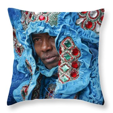 Mardi Gras Indian Throw Pillow