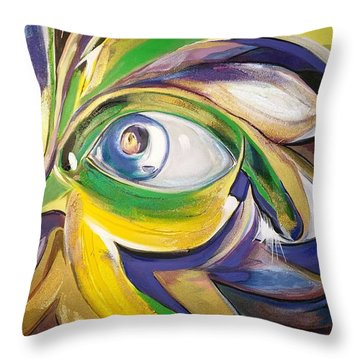 Mardi Gras Inhibition Throw Pillow