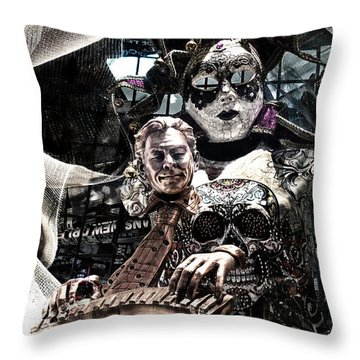 Mardi Gras Still Life 1 Throw Pillow