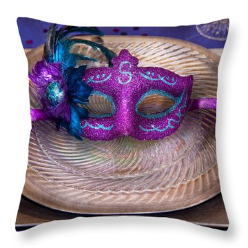 Mardi Gras Theme - Surprise Guest Throw Pillow by Mike Savad