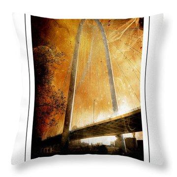 Margaret Hunt Hill Bridge Dallas Texas Throw Pillow
