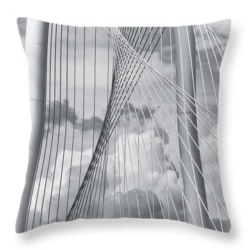 Margaret Hunt Hill Bridge Throw Pillow