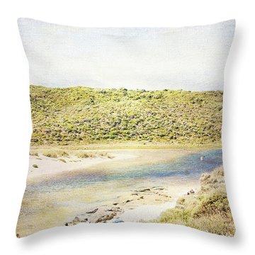 Margaret Rivermouth In Western Australia Throw Pillow by Elaine Teague