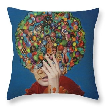Margarita Martini Throw Pillow by Douglas Fromm