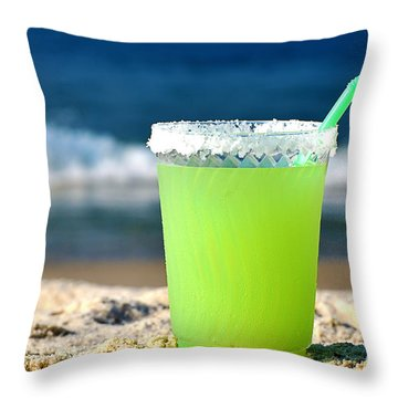 Margarita On The Beach Throw Pillow