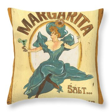 Margarita Salt On The Rocks Throw Pillow by Debbie DeWitt