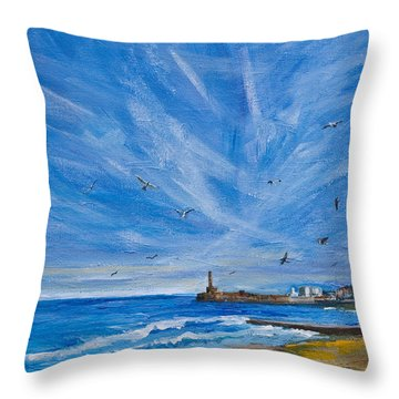 Margate Skies Throw Pillow