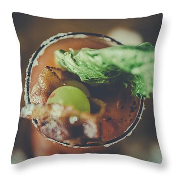 Margie Throw Pillow by Raphael C Rodriguez
