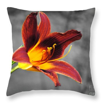 Margo's Lily Throw Pillow