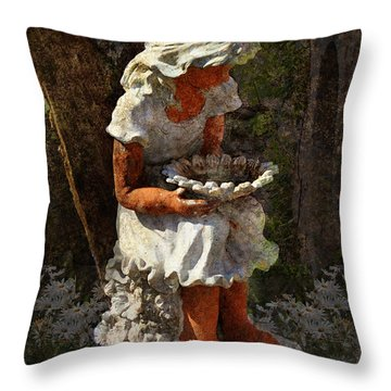 Marguerite Throw Pillow by Carla Parris