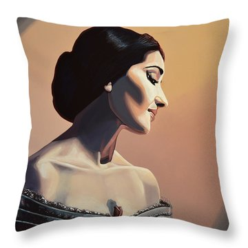Maria Callas Painting Throw Pillow