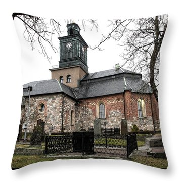 Maria Church Enkoeping From South Leif Sohlman Throw Pillow
