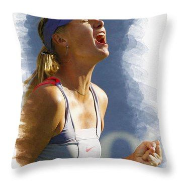 Maria Sharapova - Us Open 2011 Throw Pillow by Don Kuing