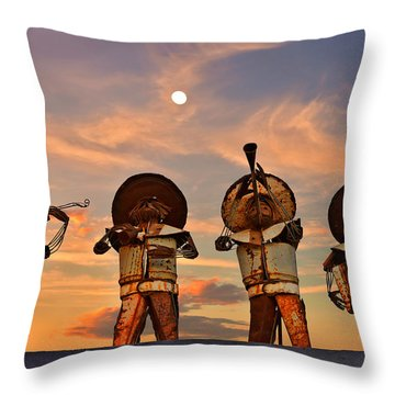 Throw Pillow featuring the photograph Mariachi Band by Christine Till