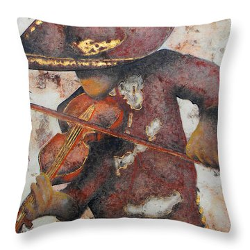 Mariachi I Throw Pillow by J- J- Espinoza