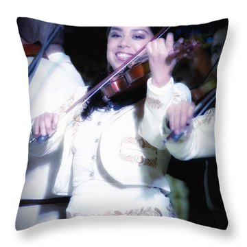 Mariachi Mujer Throw Pillow