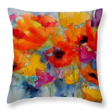 Marianne's Garden Throw Pillow