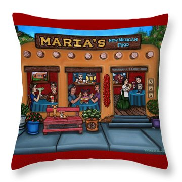 Maria's New Mexican Restaurant Throw Pillow
