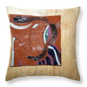 Maribel - Tile Throw Pillow by Gloria Ssali