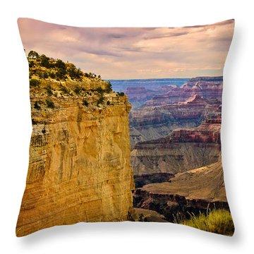 Maricopa Point Grand Canyon Throw Pillow by Bob and Nadine Johnston