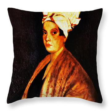 Marie Laveau - New Orleans Witch Throw Pillow