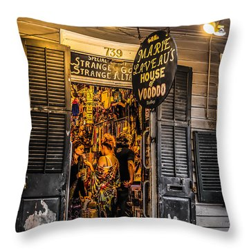 Marie Laveau's House Of Voodoo Throw Pillow