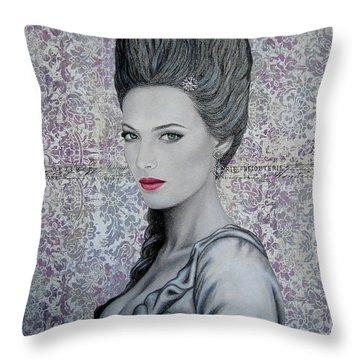 Marie Throw Pillow by Lynet McDonald