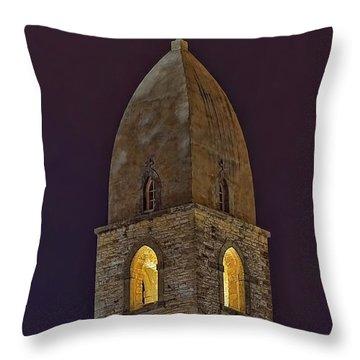 Marienkirche At Night Throw Pillow by Gary Holmes