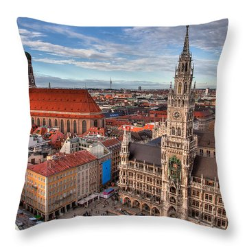 Marienplatz Throw Pillow