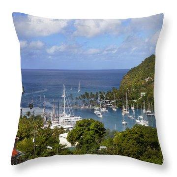 Marigot Bay Throw Pillow