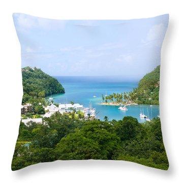 Marigot Bay, St Lucia Throw Pillow