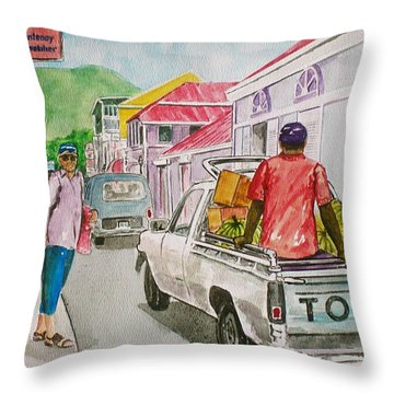 Marigot St. Martin Throw Pillow