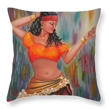 Marika The Gypsy Dancer Throw Pillow