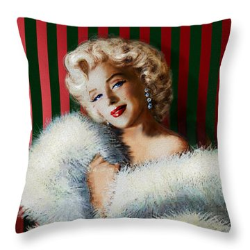 Marilyn 126 D 3 Throw Pillow