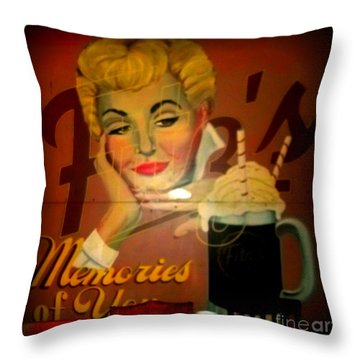 Marilyn And Fitz's Throw Pillow by Kelly Awad