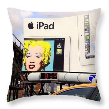 Marilyn At 85 Throw Pillow by Ed Weidman