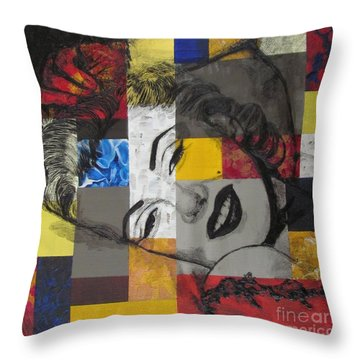 Marilyn In Abstract Throw Pillow