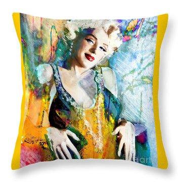 Marilyn Monroe 126 E Throw Pillow