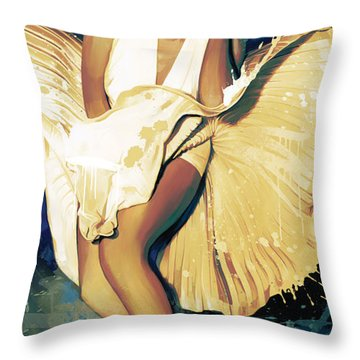 Marilyn Monroe Artwork 4 Throw Pillow by Sheraz A