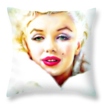 Marilyn Monroe Throw Pillow by Barbara Chichester