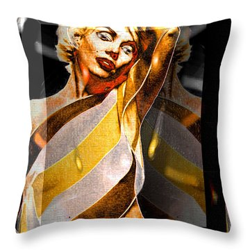 Throw Pillow featuring the digital art Marilyn Monroe by Daniel Janda