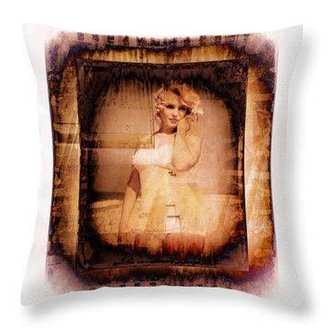Marilyn Monroe Film Throw Pillow