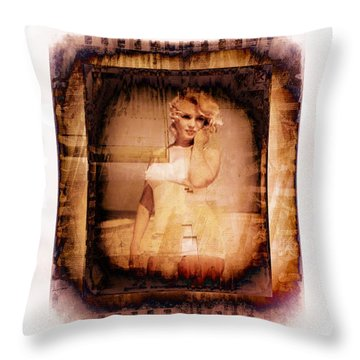 Marilyn Monroe Film Throw Pillow