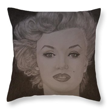 Marilyn Monroe Throw Pillow by Lorelle Gromus