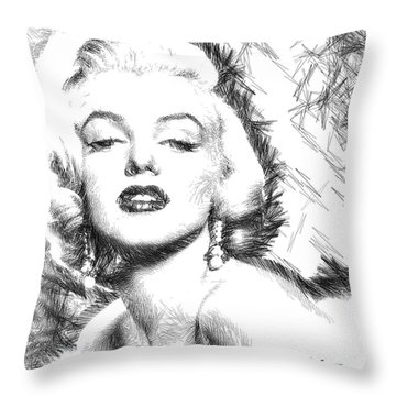 Marilyn Monroe - The One And Only  Throw Pillow by Rafael Salazar