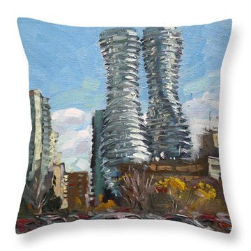 Marilyn Monroe Towers In Mississauga Throw Pillow
