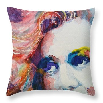 Marilyn No11 Throw Pillow by Paul Lovering