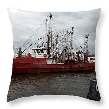 Throw Pillow featuring the photograph Marina 010 by Dorin Adrian Berbier