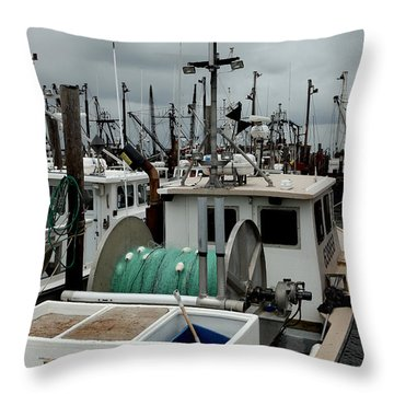 Throw Pillow featuring the photograph Marina 013 by Dorin Adrian Berbier